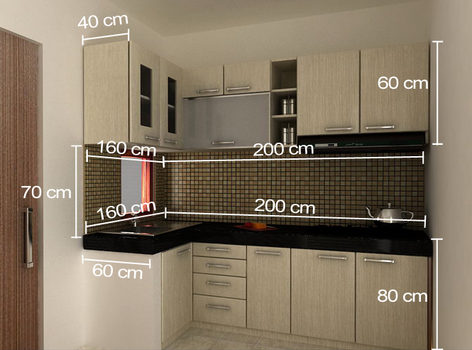 Kitchen Set Ukuran  Meter