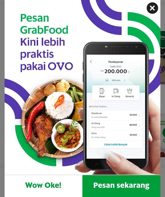 Hujan deras bersama Go food via Grab
