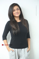 Telugu Actress Mishti Chakraborty Latest Pos in Black Top at Smile Pictures Production No 1 Movie Opening  0012.JPG