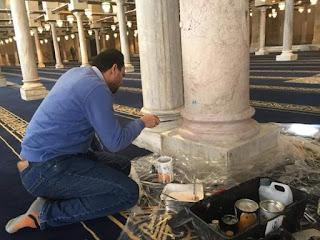 الانتهاء من أضخم عمليات ترميم فى تاريخ الجامع الأزهر الشريف