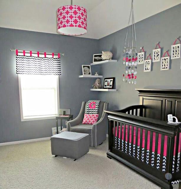 Desain Kamar Tidur Bayi Perempuan Minimalis
