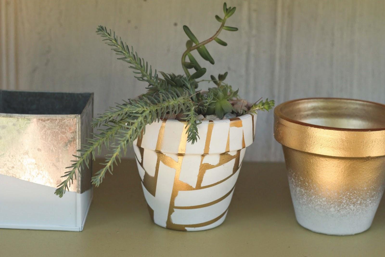 diy: spray painted pots | heywandererblog | Bloglovin