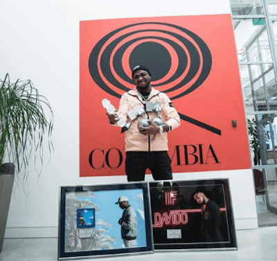 "Davido Shows Off His Trophies As He Bags Another Record After His Songs ""IF"" and ""FALL"" Hit A Million Sales"