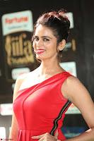 Meenakshi Dixit in Red One Shoulder Red Zipped up gown at IIFA Utsavam Award 35.JPG