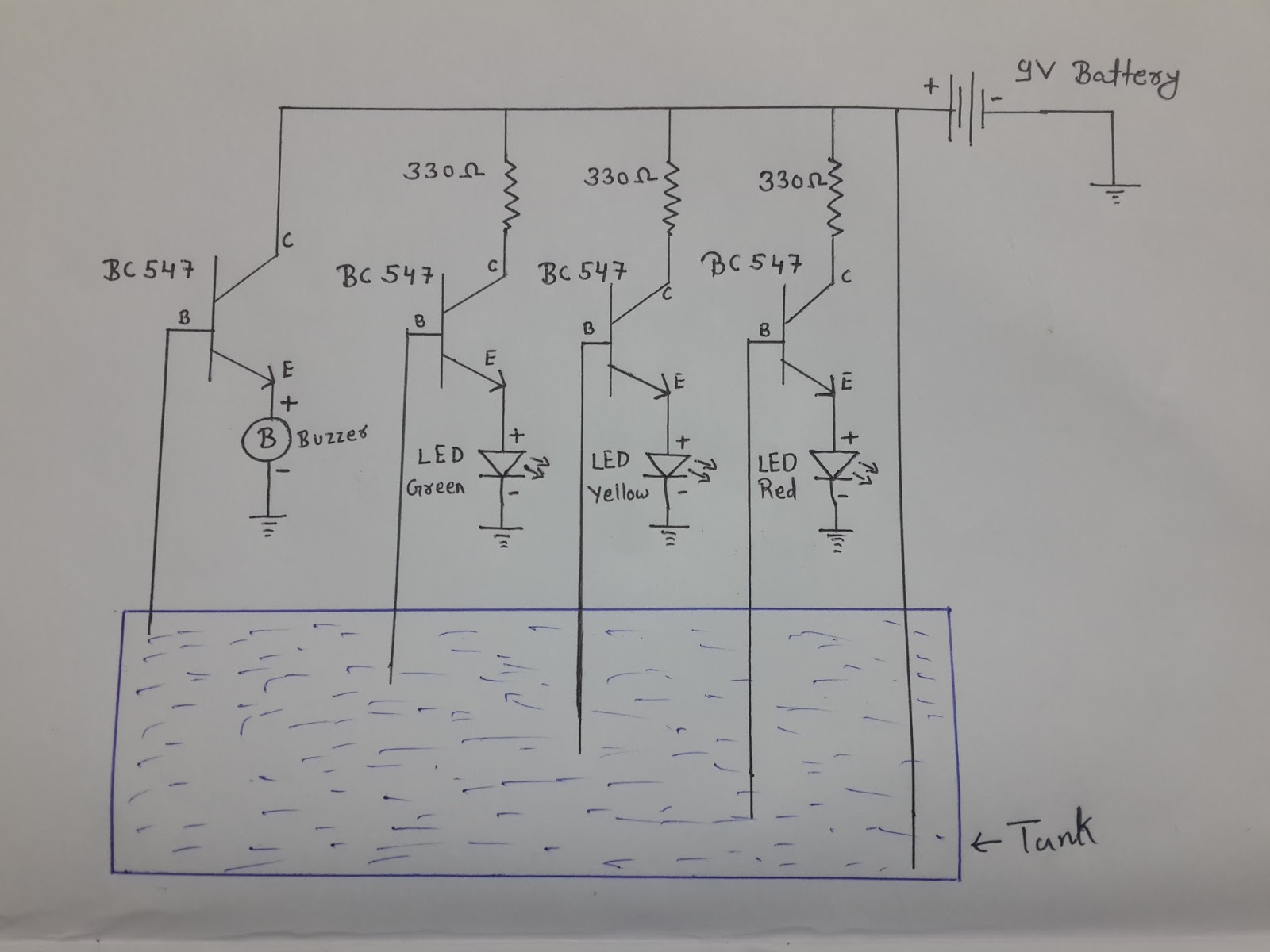 How To Make Water Level Indicator In on battery diagram