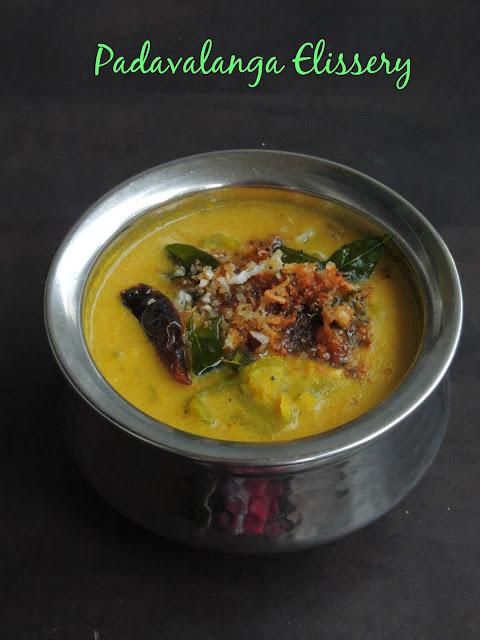 Snakegourd Kootu Curry, Padavalanga Elissery