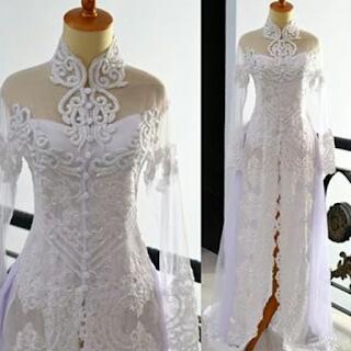 Baju Kebaya Pengantin Warna Putih Trend Terbaru Model Modern