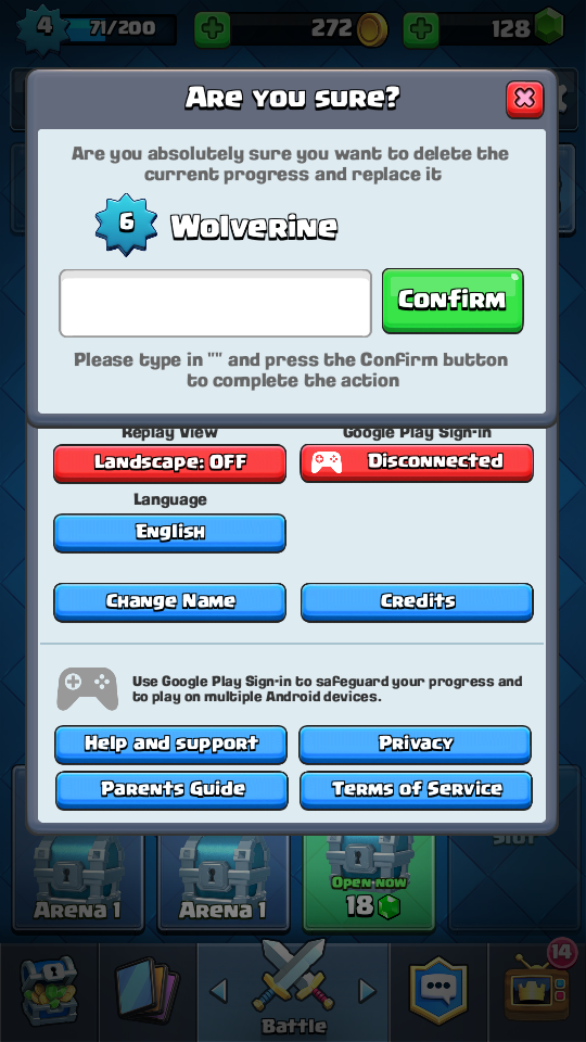 guide how to switch account in clash royale without