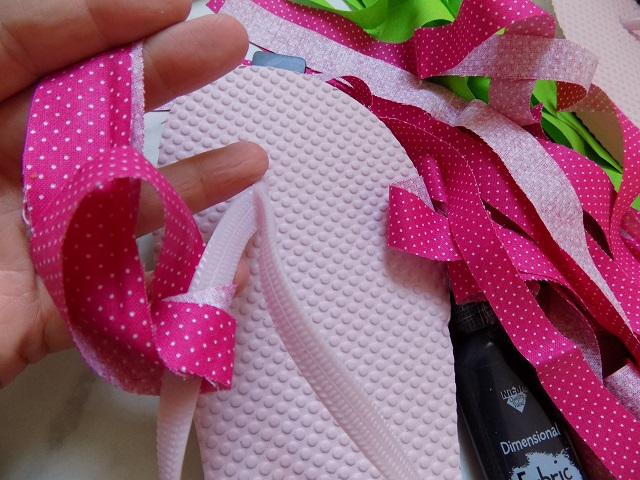5e1b1553f280 ... cost about  3.50 to make each pair of DIY No-Sew Watermelon Flip Flops.  This would make an excellent - super frugal - party craft for kids this  summer!