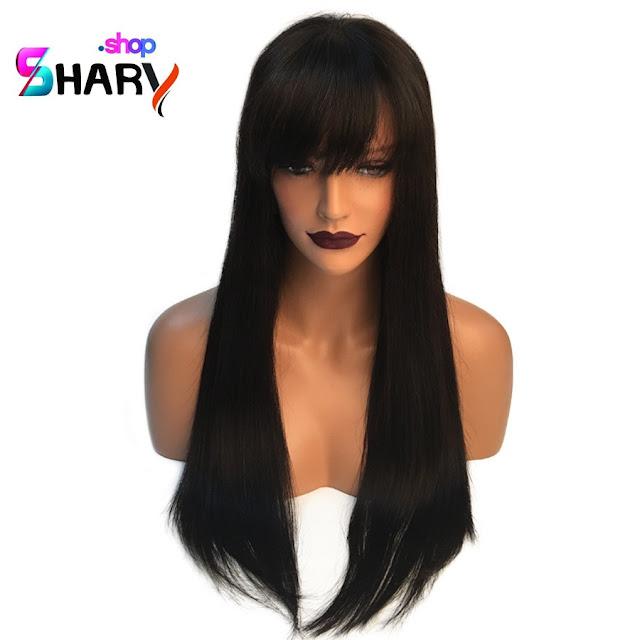 3e20a6681419a باروكة شعر جذور امامية طبيعية وحقيقية 18 انش كثافة ( 150)