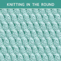 Twist Cable 30 -Knitting in the round