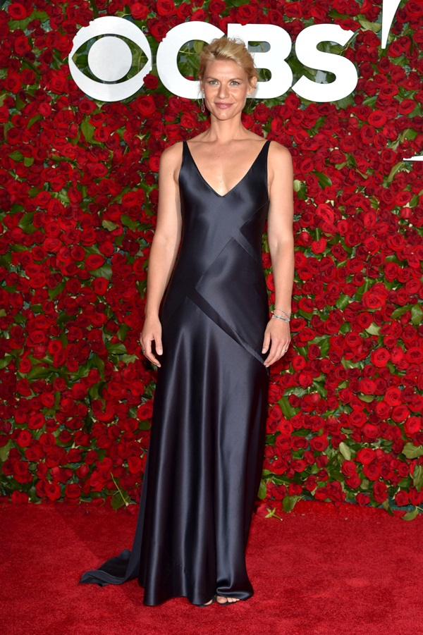 Claire Danes wears slinky satin dress to the 2016 Tony Awards in NY