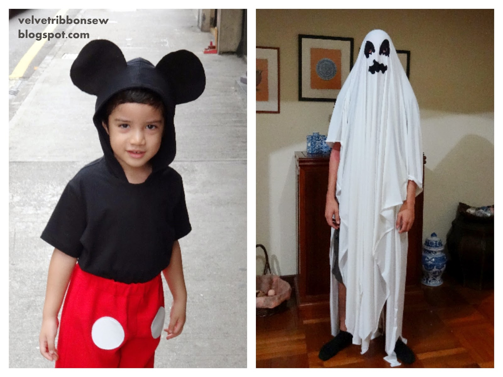 mickey mouse and ghost costumes