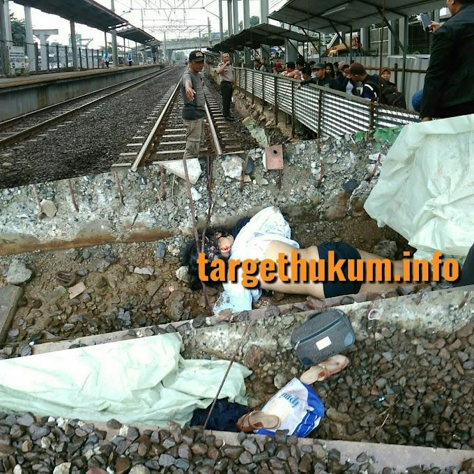 Diduga Korban Bunuh Diri Dengan Menabrak Kereta Jurusan Jakarta - Solo