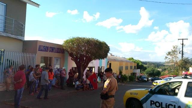 Mobilização pela reabertura do Banco do Brasil em Nova Cantu