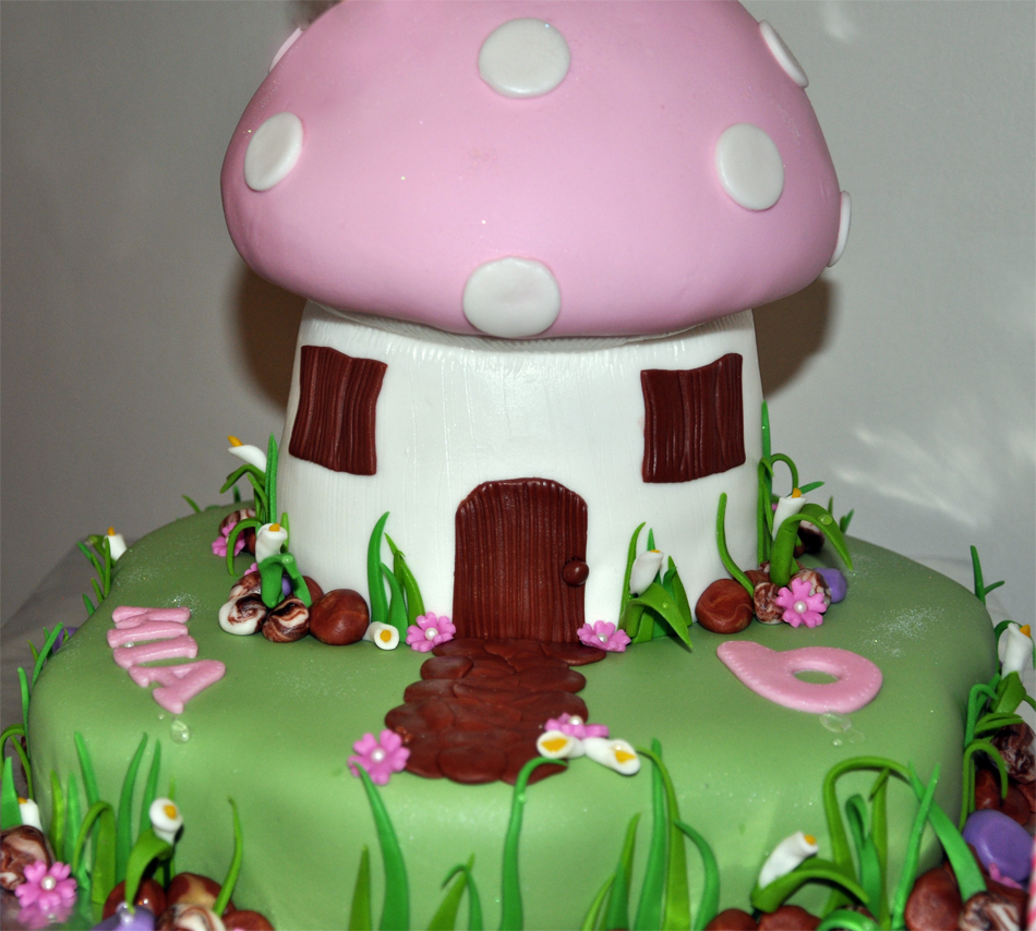 Delana S Cakes Fairy Mushroom Cake