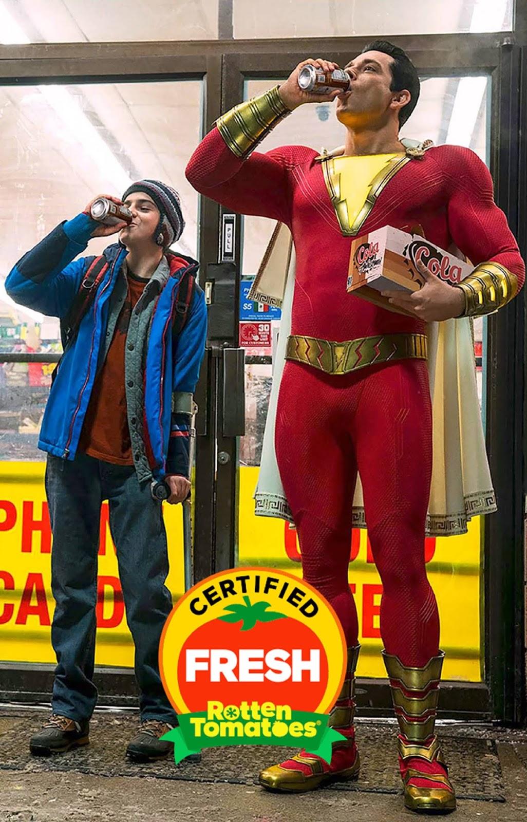 Rotten Tomatoes aprueba '¡Shazam!' con el 94% de las críticas
