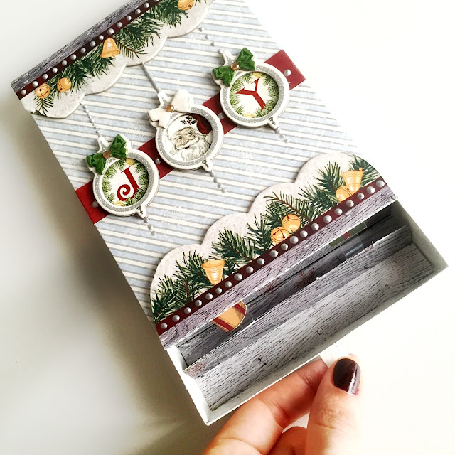 Slide Pop-Up Christmas Card by Ombretta Fusco using BoBunny Tis The Season