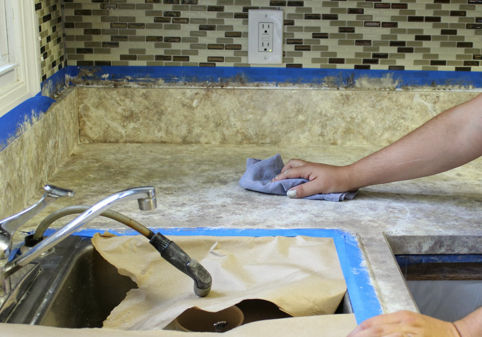 How To Paint Your Countertops | Days of Chalk and Chocolate