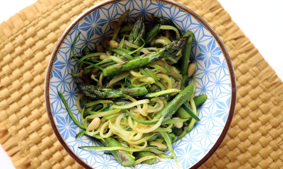 Warm Indian-Style Asparagus & Courgetti Salad
