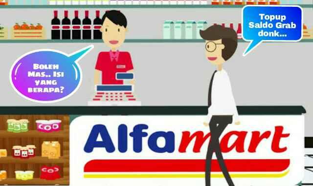 Isi ulang saldo grab di alfamart