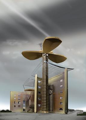 diseño arquitectónico de vivienda futurista