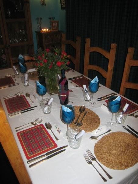 Burns Night Table Setting