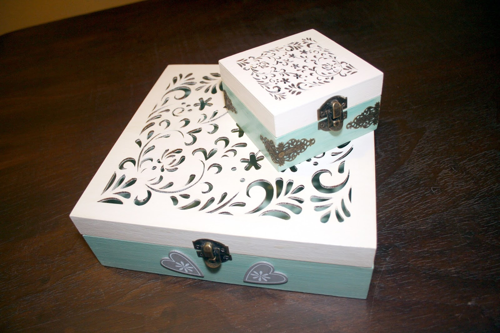 Caja Madera Decorada Vintage