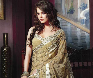best beautiful perfect and sexy saree for fair color women