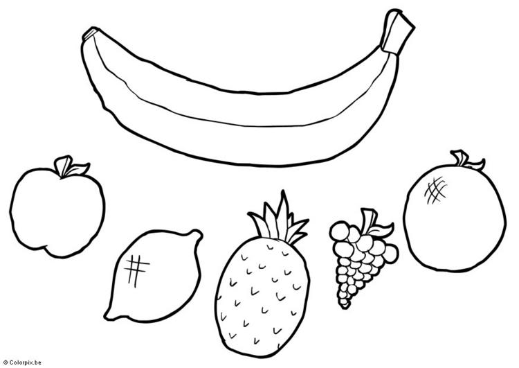En çok Oy Alan Meyveler Ve Sebzeler Boyama Yazdırılabilir Boyama