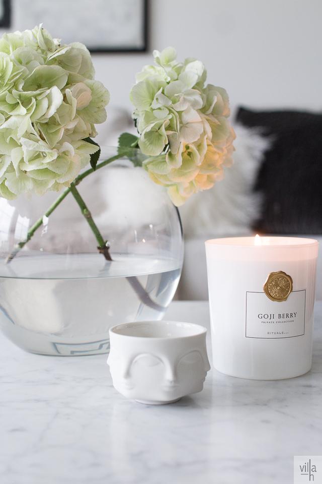 sisustus, rituals kynttilä, interior, hortensia