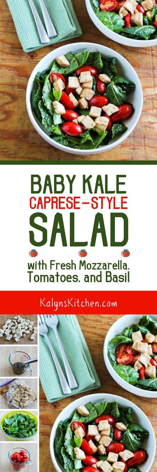 ... Kale Caprese-Style Salad with Fresh Mozzarella, Tomatoes, and Basil