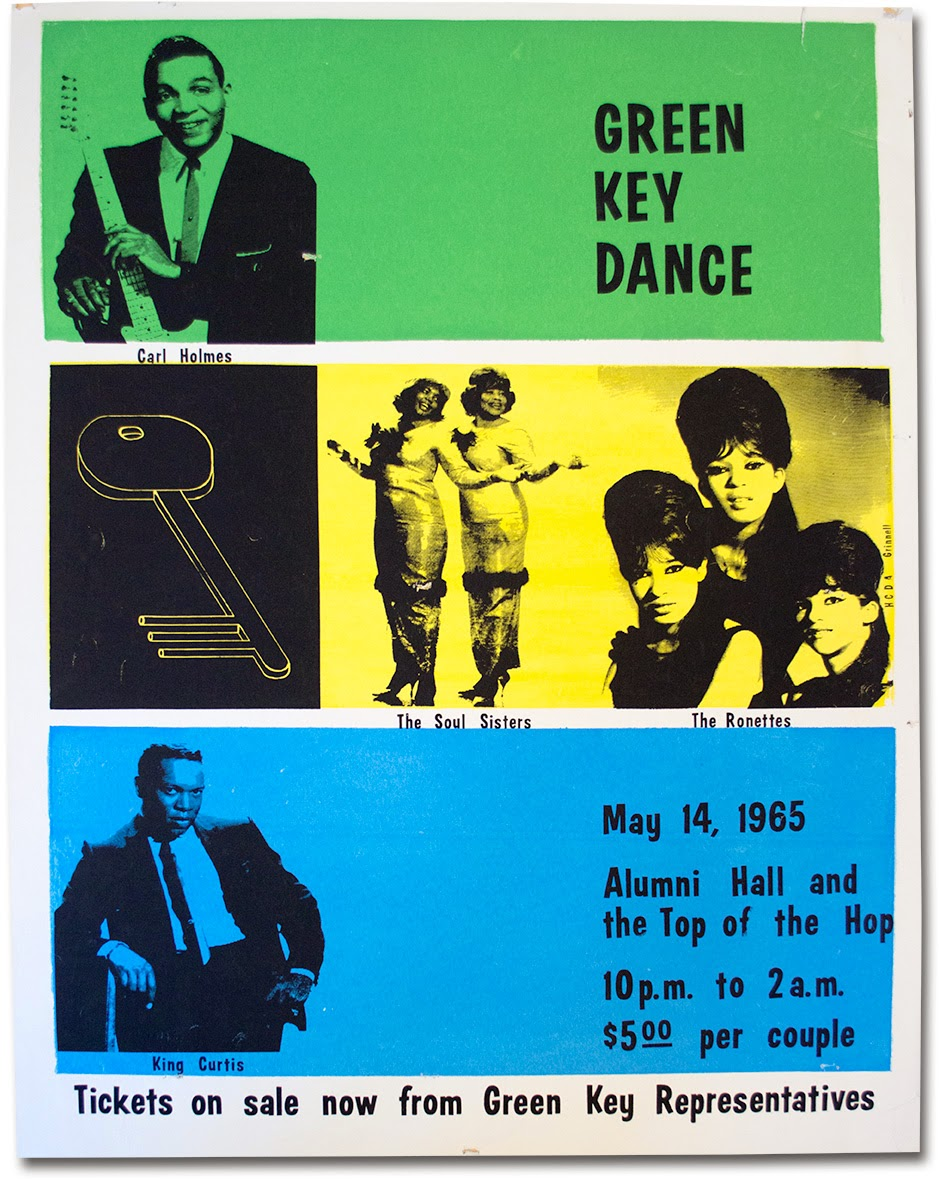 A poster for a 1965 group performance including the Ronettes.