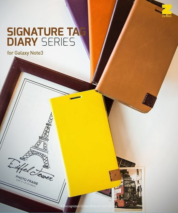 Signature Tag diary Case Samsung Galaxy Note 3 Leather Diary Cases