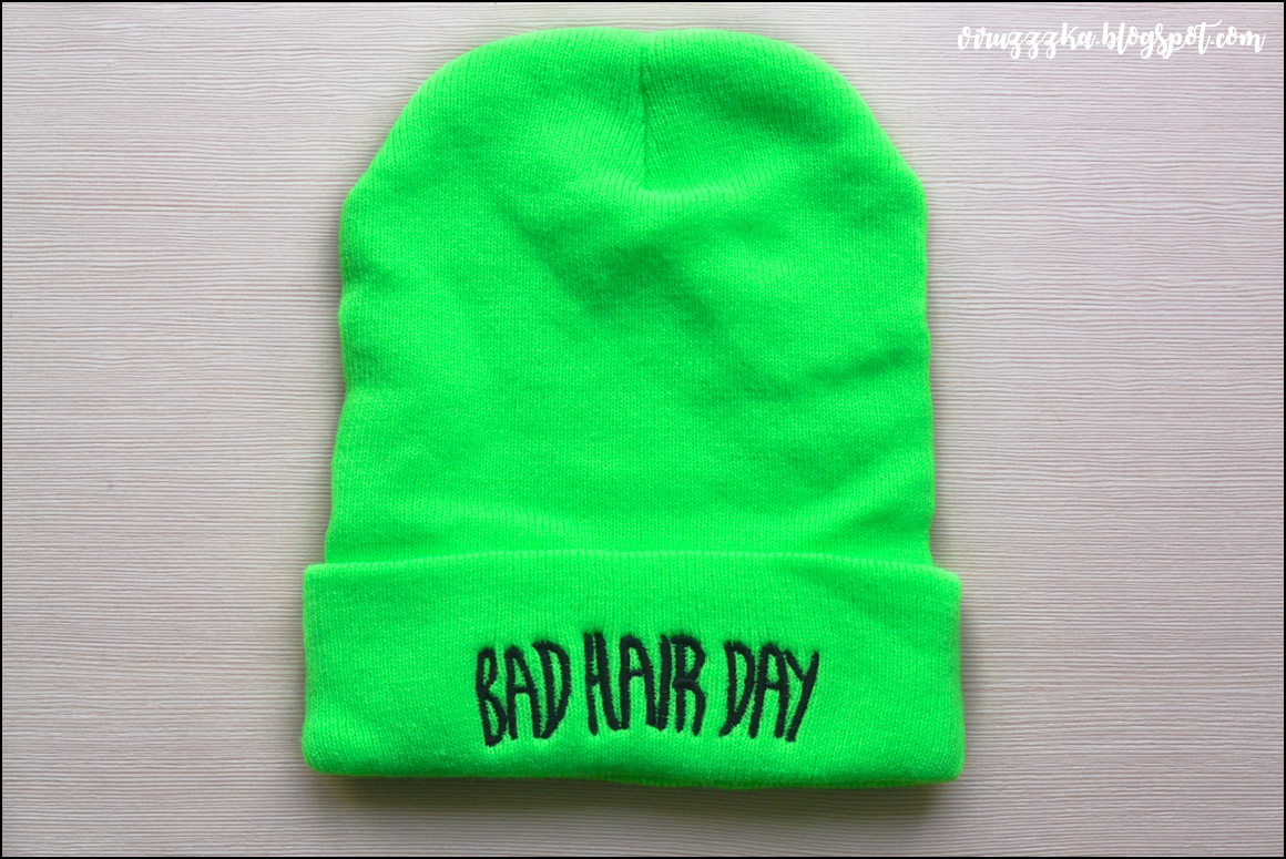 "Вязанная Шапка Бини ""Bad Hair Day"" от Banggood 