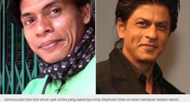 Mirip Shahrukh Khan, Ini Driver Ojek Online Paling Dicari