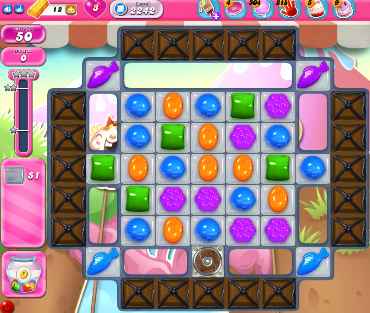 Candy Crush Saga level 2242