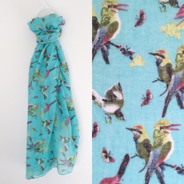 Birds of paradise scarf