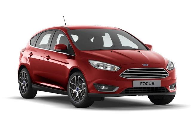16c6491587514 O Ford Focus hatch ganhou uma nova opção de cor, a vermelho Toscana. Além  dela, o médio da marca americana apresenta as cores sólidas branco Ártico e  ...