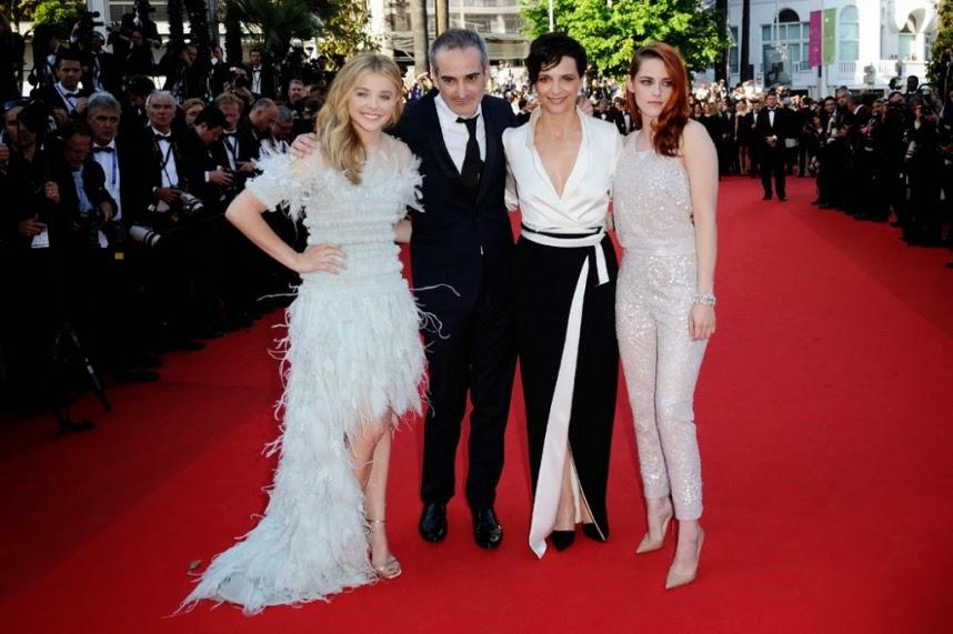 Les trois actrices de Sils Maria et le réalisateur à Cannes