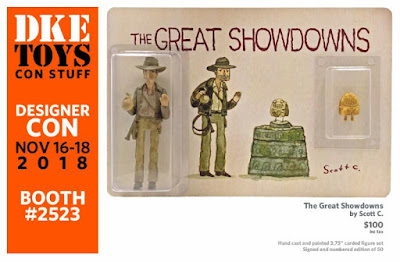Designer Con 2018 Exclusive The Great Showdowns Indiana Jones and the Raiders of the Lost Ark Resin Figure Set by Scott C x DKE Toys