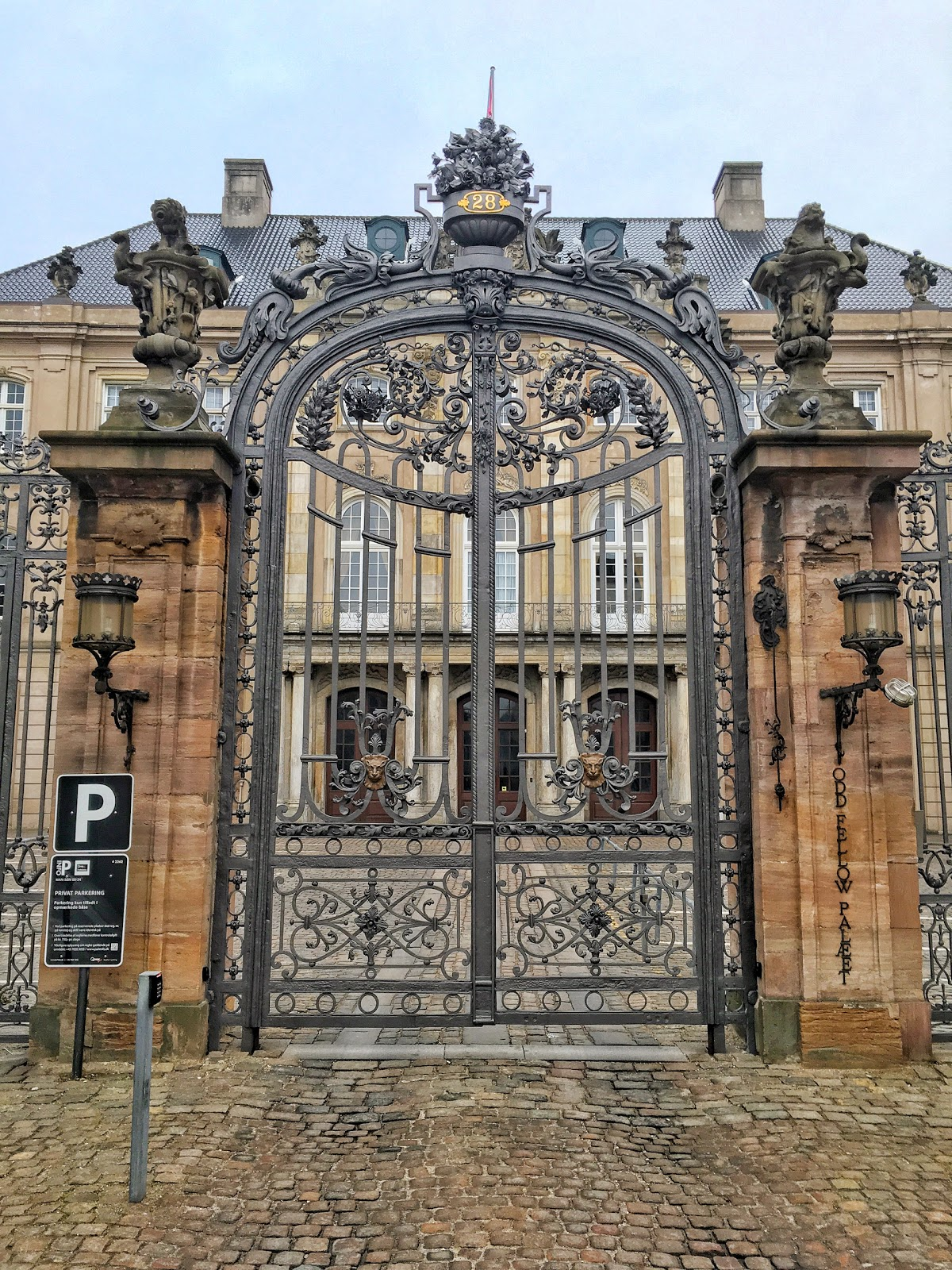 Iron Gates Of Copenhagen Wrought And Cast Iron Old Cast Iron