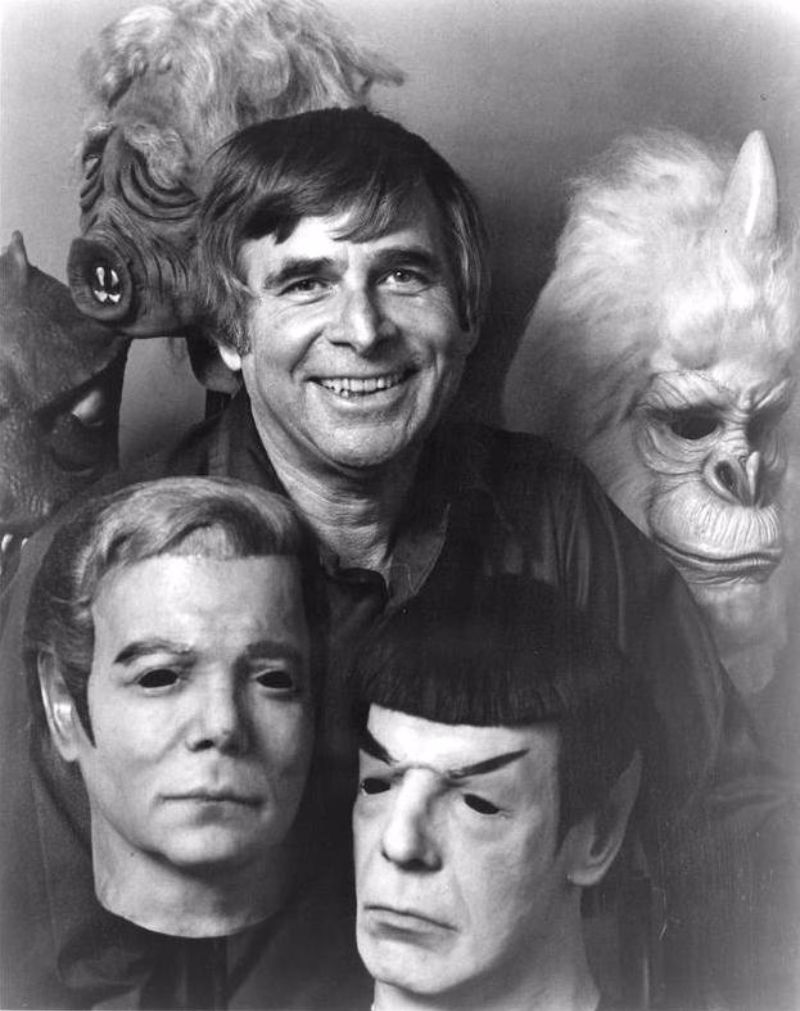 """Gene Roddenberry in promotional photos with the """"Star Trek"""" masks ..."""