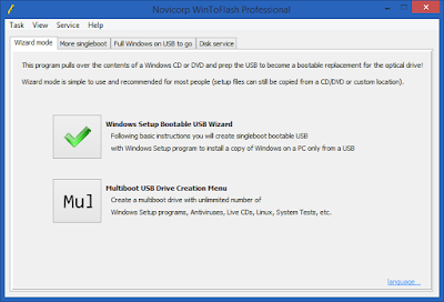 Screenshot Novicorp WinToFlash Professional 1.13.0000 Full Version