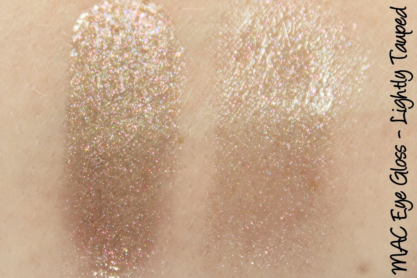MAC Cinderella: Studio Eye Gloss - Lightly Tauped Swatches & Review