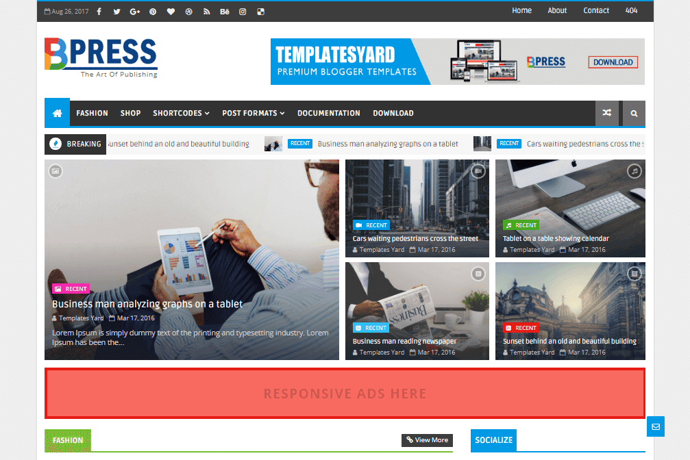 How to setup bpress blogger template templatesyard sora blogging bpress is a lite weight magazine blogger template loaded with tons of content based featured widgets for recent and label specific posts friedricerecipe Images