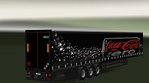 Long Krone Coca-Cola trailer