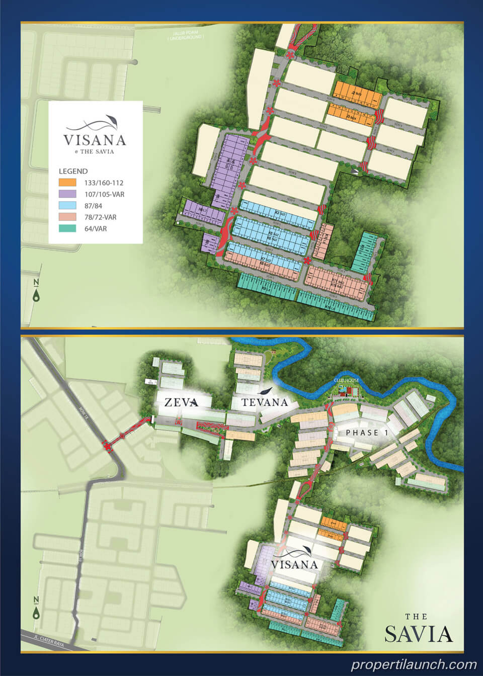 Site Plan Visana The Savia BSD