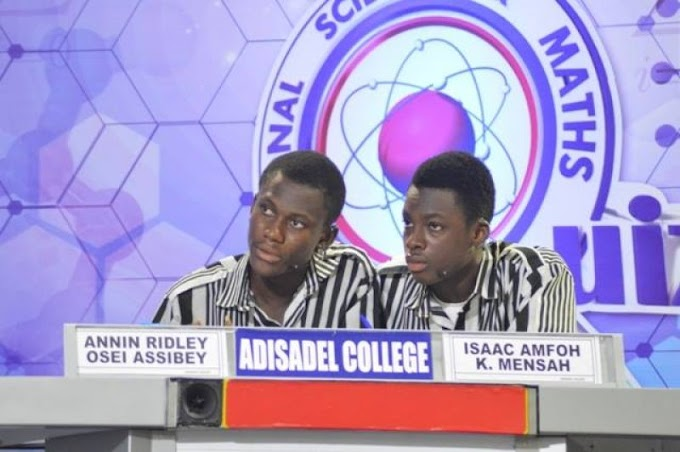 Adisco wins National Science and Maths Quiz 2016
