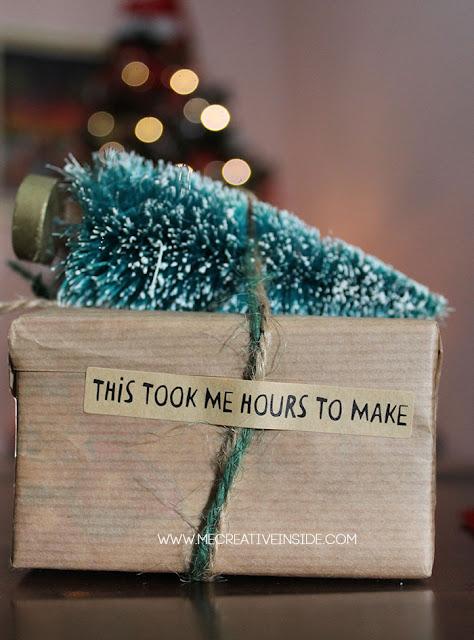 adesivo tiger Packaging natalizio natale albero sulla macchina tree topped gifting idee facili mecreativeinside